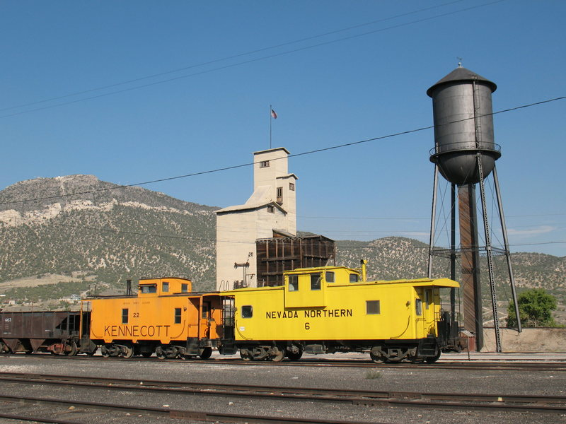 Idle train cars in Ely, Nevada
