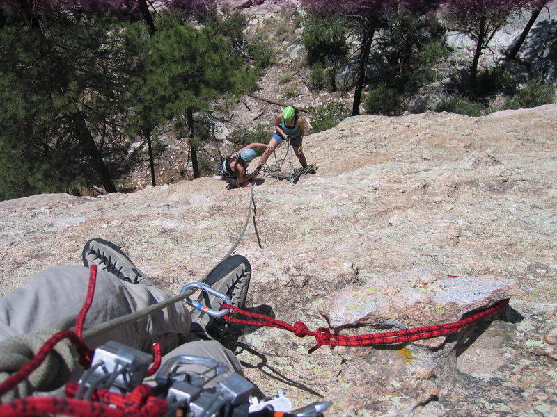 Rock Climbing Photo: Chickenheady goodness!  From second pitch lead, lo...