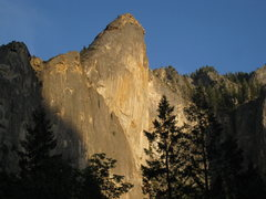 Rock Climbing Photo: Leaning Tower seen from the valley floor.  Took th...