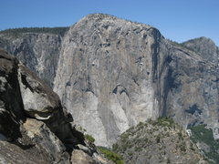Rock Climbing Photo: View of El Cap from the summit of Leaning Tower.  ...