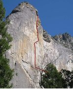 Rock Climbing Photo: West Face of Leaning Tower.  I'm not 100% about th...