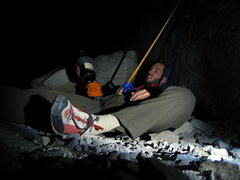 Rock Climbing Photo: 4 am whiskey visions on Ahwahnee ledge.  A present...