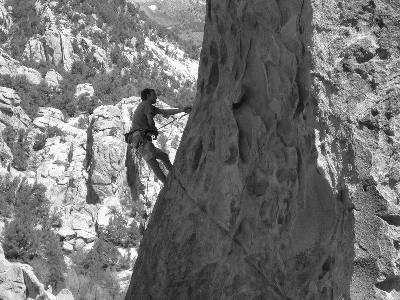 Rock Climbing Photo: Chaz on QFF