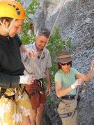 Rock Climbing Photo: CHaz Terri and John at the base