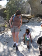 Rock Climbing Photo: Nidhi and Suzanne in the alcove doing a soft shoe ...