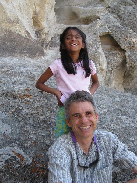 Rock Climbing Photo: Nidhi and her dad