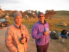 Rock Climbing Photo: Harvey and John, site 63 COR