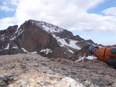 Rock Climbing Photo: mt lady washington with longs in the back