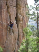 Rock Climbing Photo: Midway up Crack a Smile.