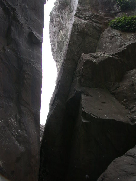 "Rock Climbing Photo: Looking west into the ""slot"". The Puff B..."