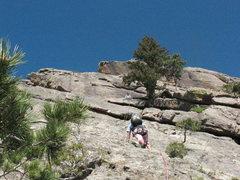 Rock Climbing Photo: Torrey on pitch 2.
