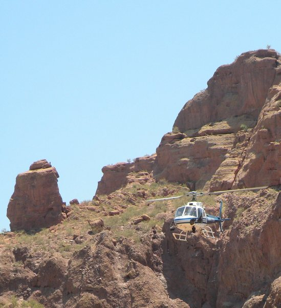 Rock Climbing Photo: Heli picture #2