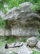 Rock Climbing Photo: Grade A, V6. Red Bluff, near San Antonio, TX.