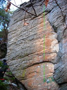 Rock Climbing Photo: Jeep Streak, holds out side of the orange streak c...