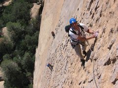 Rock Climbing Photo: Jason Schrack on second pitch of WML.  Other parti...