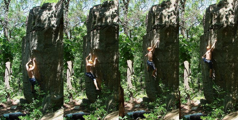 Rock Climbing Photo: Problem by Erosion, beta by Huston, photo by Shant...