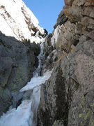 Rock Climbing Photo: Crux of Martha on June 21st, 2008.  It was a water...