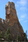 Rock Climbing Photo: The Black Brittle slab down low coming out of the ...