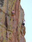 Rock Climbing Photo: EFR's effort to show off his climbing skills would...