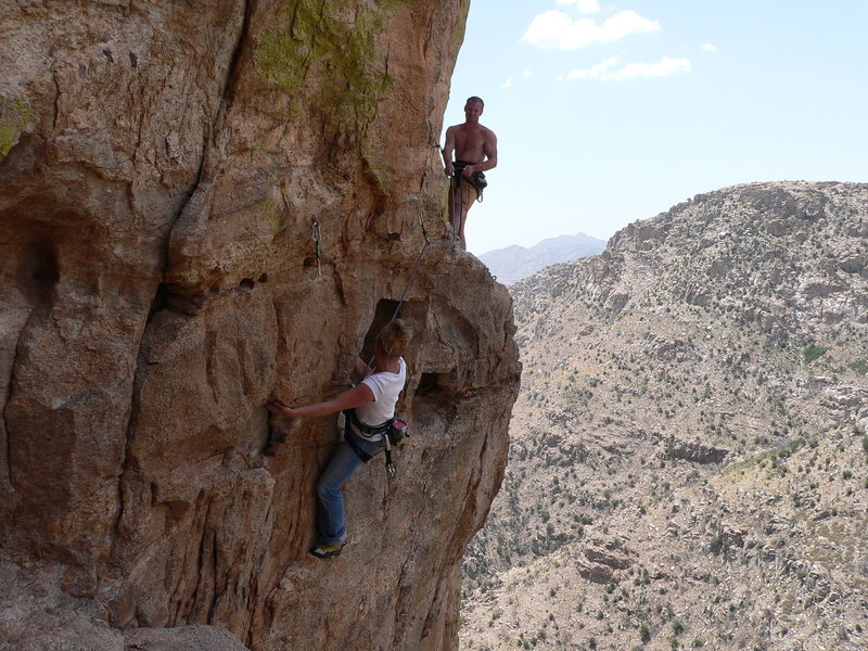 "Rock Climbing Photo: ""Don't worry, I have you on (hip) belay"""