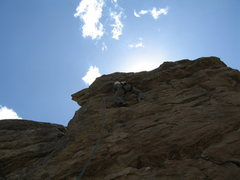 Rock Climbing Photo: MaryKay on the Unknown Route to the Left of Rip Of...