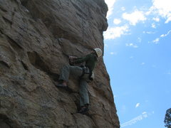 Rock Climbing Photo: MaryKay just about to begin the wonderful move seq...