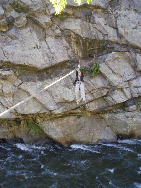 Rock Climbing Photo: Yes, she's having fun