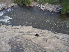 Rock Climbing Photo: Dayna on her way up Guppy.