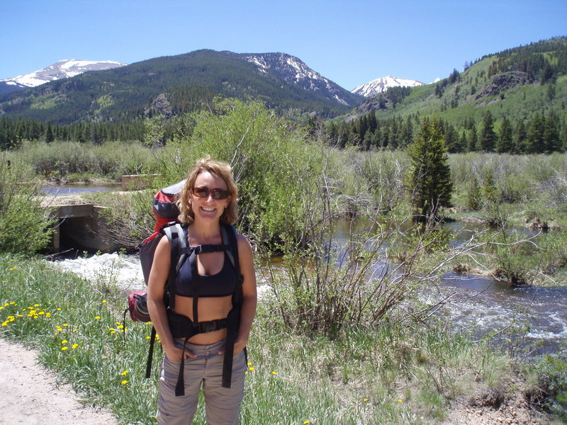 On our way to Bench Lake, Elev. 10,950ft.