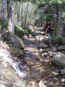 Rock Climbing Photo: THe melting snow was draining right down the trail...