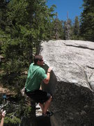 Rock Climbing Photo: Nathan matched on the lip of Floyd E. Queeb (V0), ...