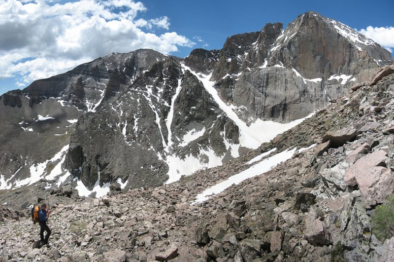 Rock Climbing Photo: View of Meeker and Longs, including the Flying Dut...
