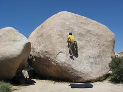 Rock Climbing Photo: Intersection Boulder - Joshua Tree National Park
