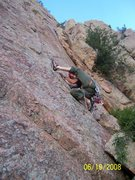 Rock Climbing Photo: Stiles leading Sylvan Dream