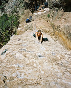Rock Climbing Photo: Ashley Gann on Spinney Dan.