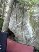 Rock Climbing Photo: Bad cell phone picture, but you get the idea
