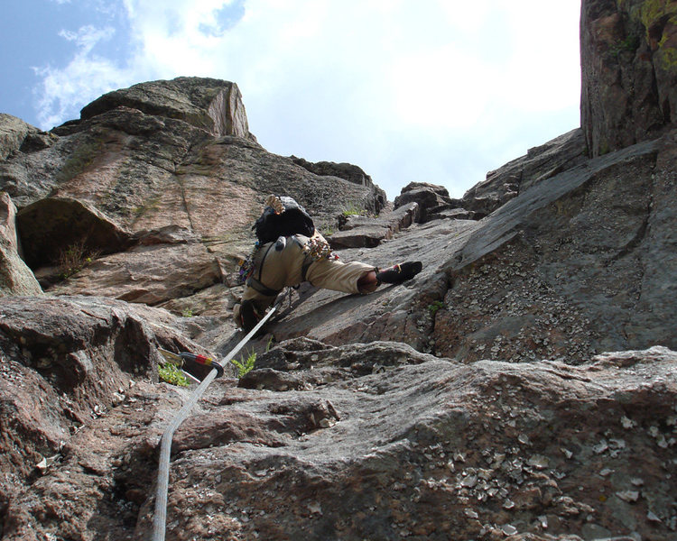 Rock Climbing Photo: Steve getting into the crux.