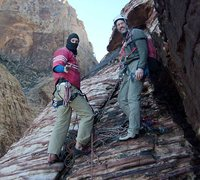 Rock Climbing Photo: The upper ledges are littered with terrorists and ...