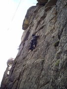 Rock Climbing Photo: Christina goes 4 the Tower!