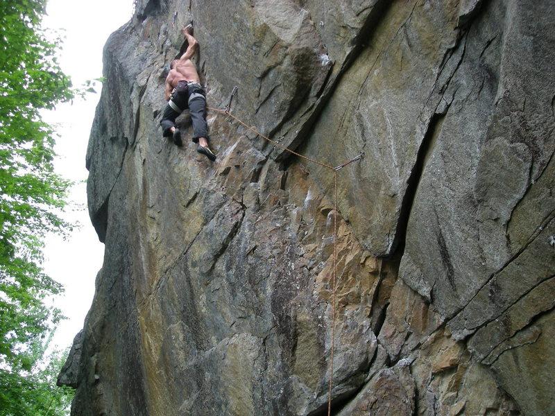 Rock Climbing Photo: E-man climbs (then downclimbs and reclimbs) Dikens...