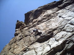 Rock Climbing Photo: Brad redpointing Willie 4 free!