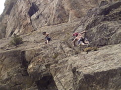 Rock Climbing Photo: BenJordan & me getting an ascent of Flags last yea...