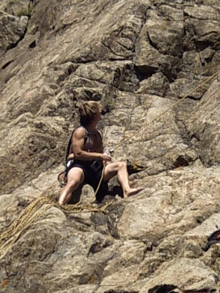 Rock Climbing Photo: Great belayer! Life of the belayer is looking Up!!