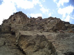 Rock Climbing Photo: Me and the kid Ben J climbing one of our first mul...