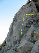 Rock Climbing Photo: White Light (5.7), Riverside Quarry
