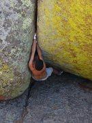 Rock Climbing Photo: Micah from a laydown start.