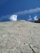Rock Climbing Photo: This photo illustrates the runout between the P1 a...