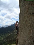 Rock Climbing Photo: Orange Julius, Lumpy.  Rock looks steeper than it ...