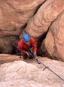 Rock Climbing Photo: Matt nearing the summit.  In case you're wondering...