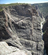 Rock Climbing Photo: The Great White Wall area.  Both the Great White W...